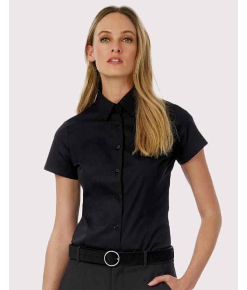 B&C | CGSWP24 | 713.42 | SWP24 | Black Tie SSL/women Poplin Shirt
