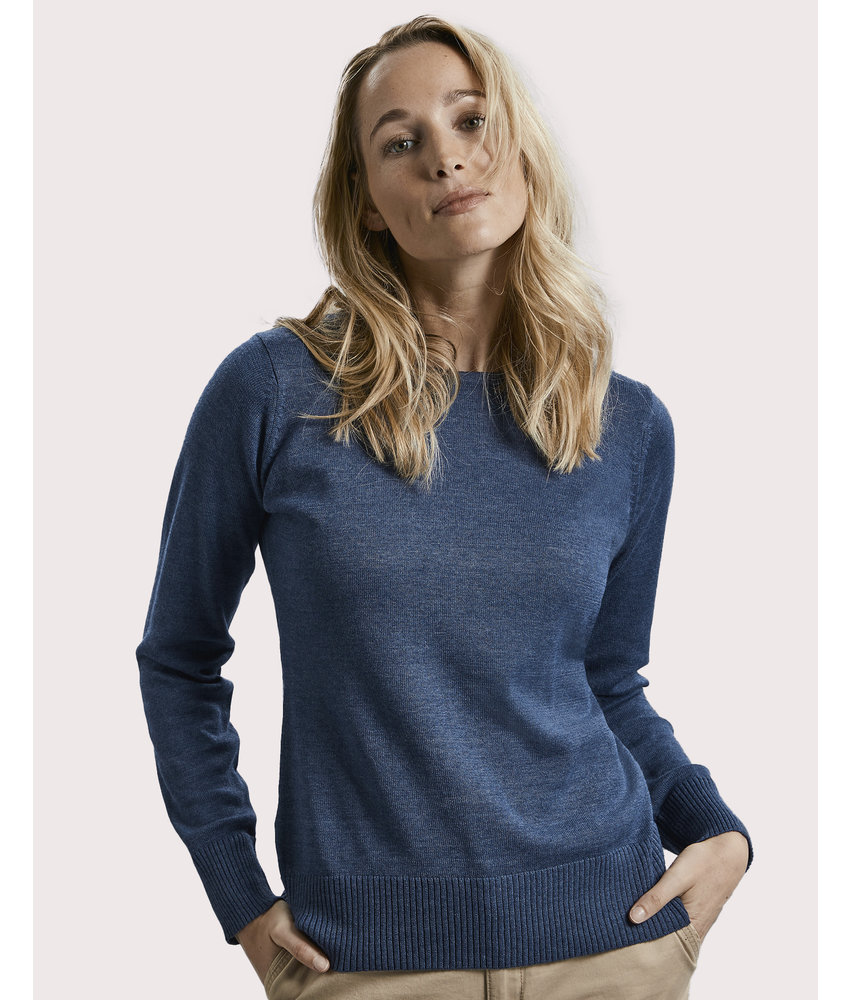 Russell Collection | RU717F | 782.00 | R-717F-0 | Ladies' Crew Neck Knitted Pullover