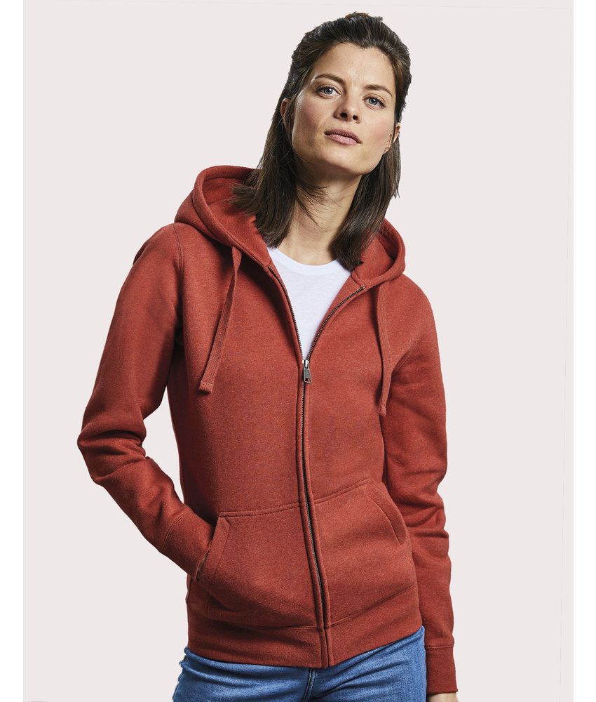 Russell   RU263F   230.00   R-263F-0   Ladies' Authentic Melange Zipped Hood Sweat
