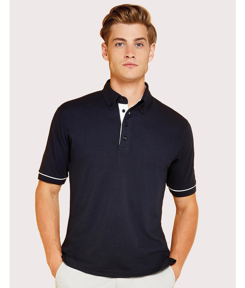 Kustom Kit | 596.11 | KK449 | Classic Fit Button Down Contrast Polo Shirt
