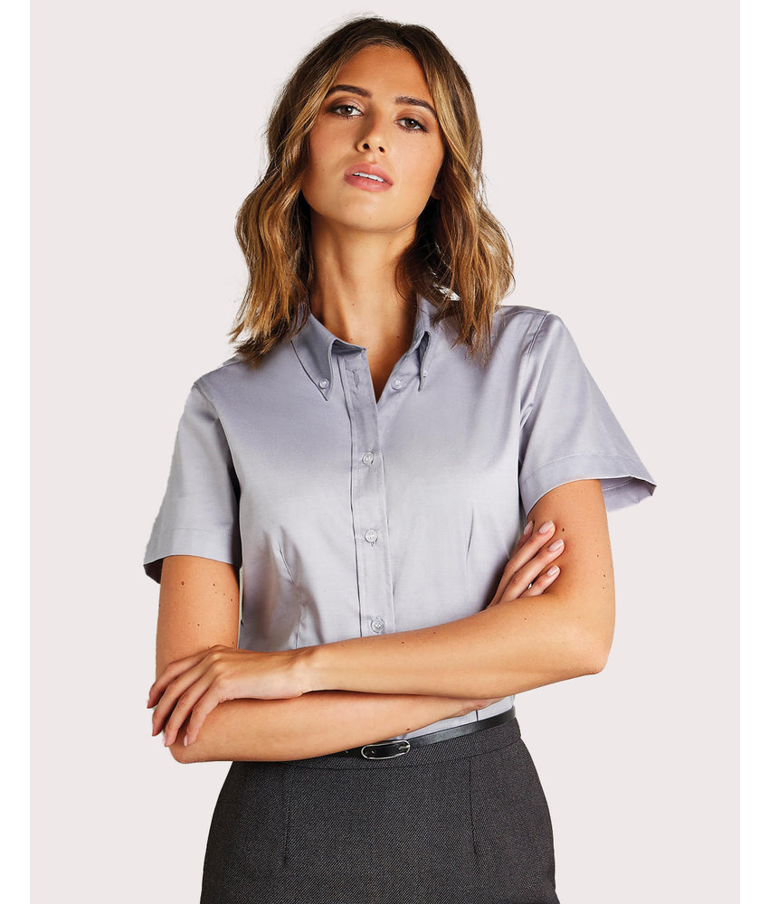 Kustom Kit | 701.11 | KK701 | Women's Tailored Fit Premium Oxford Shirt SSL