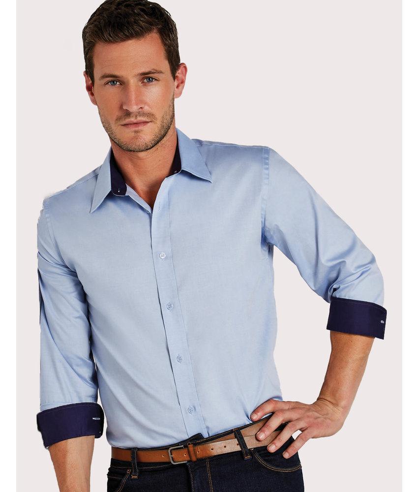 Kustom Kit | 707.11 | KK189 | Tailored Fit Premium Contrast Oxford Shirt
