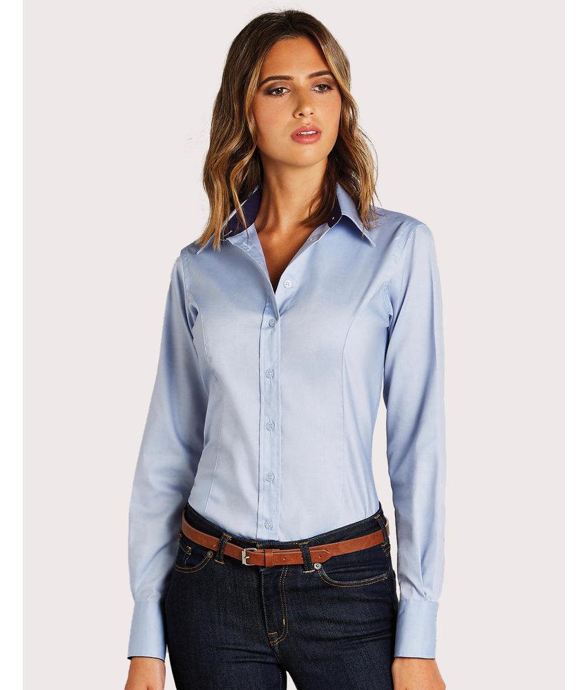 Kustom Kit | 767.11 | KK789 | Women's Tailored Fit Premium Contrast Oxford Shirt