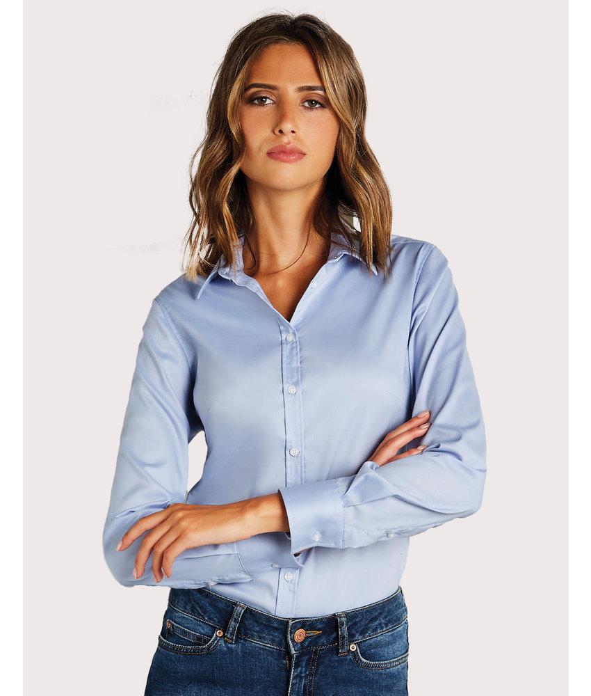 Kustom Kit | 777.11 | KK782 | Women's Tailored Fit Stretch Oxford Shirt LS