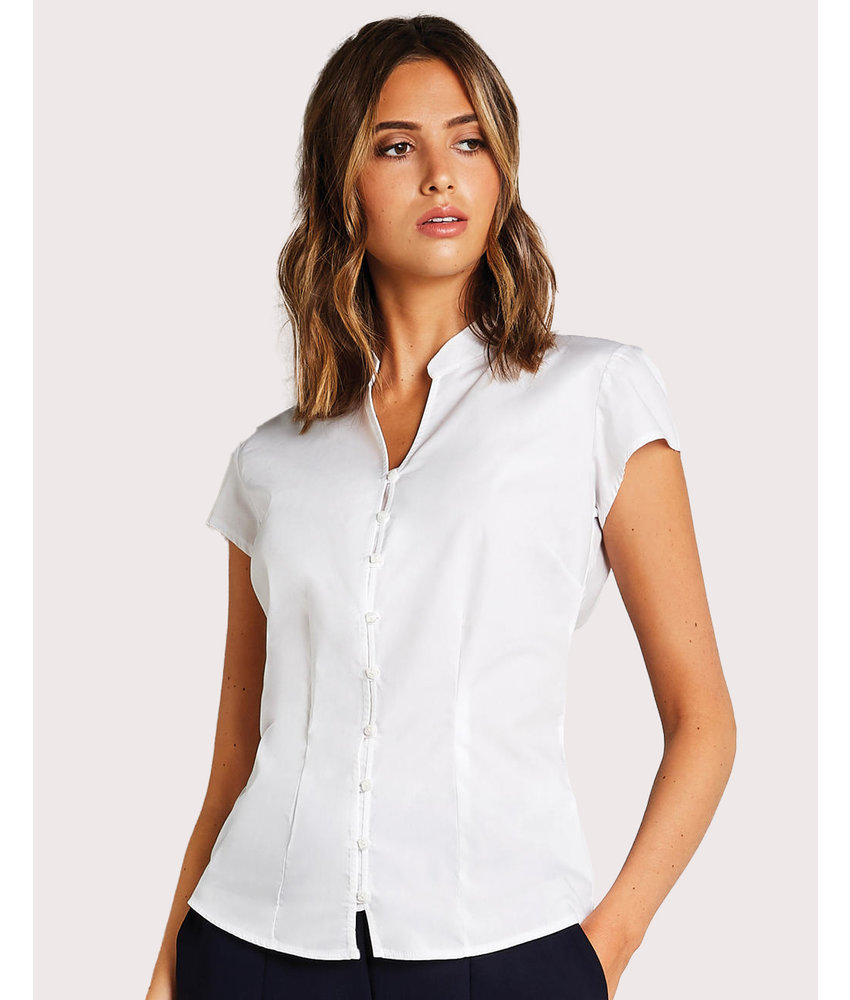 Kustom Kit | 797.11 | KK727 | Women's Tailored Fit Mandarin Collar Blouse SSL
