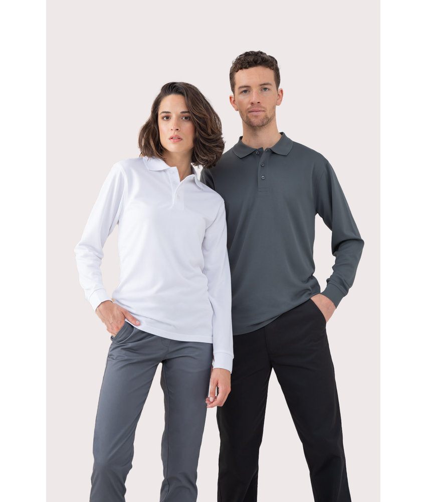Henbury | H478 | Men's Coolplus® Long-Sleeved Polo Shirt