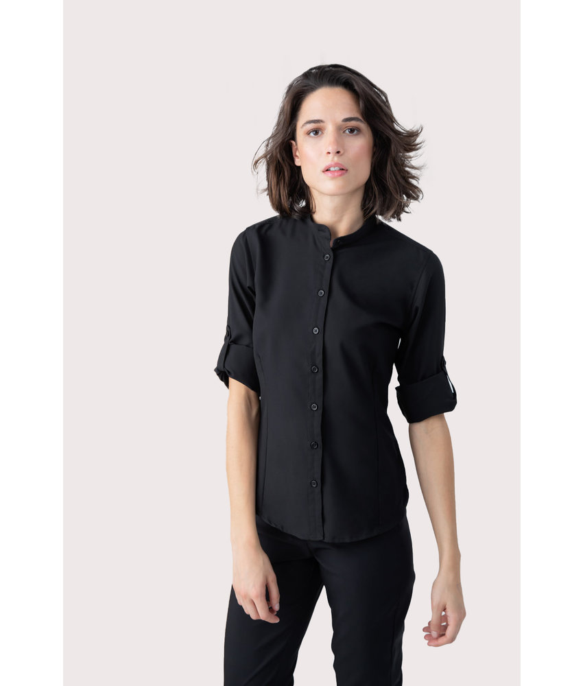 Henbury | H593 | Ladies' Mandarin Shirt