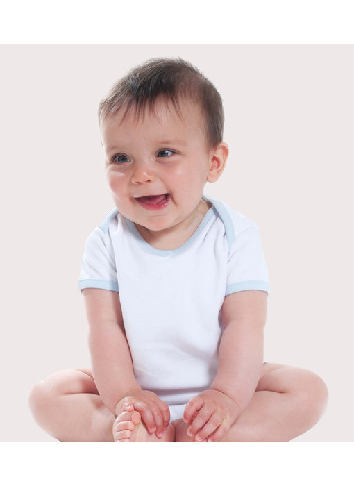 Larkwood | LW051 | Contrast Short-Sleeved Baby Bodysuit