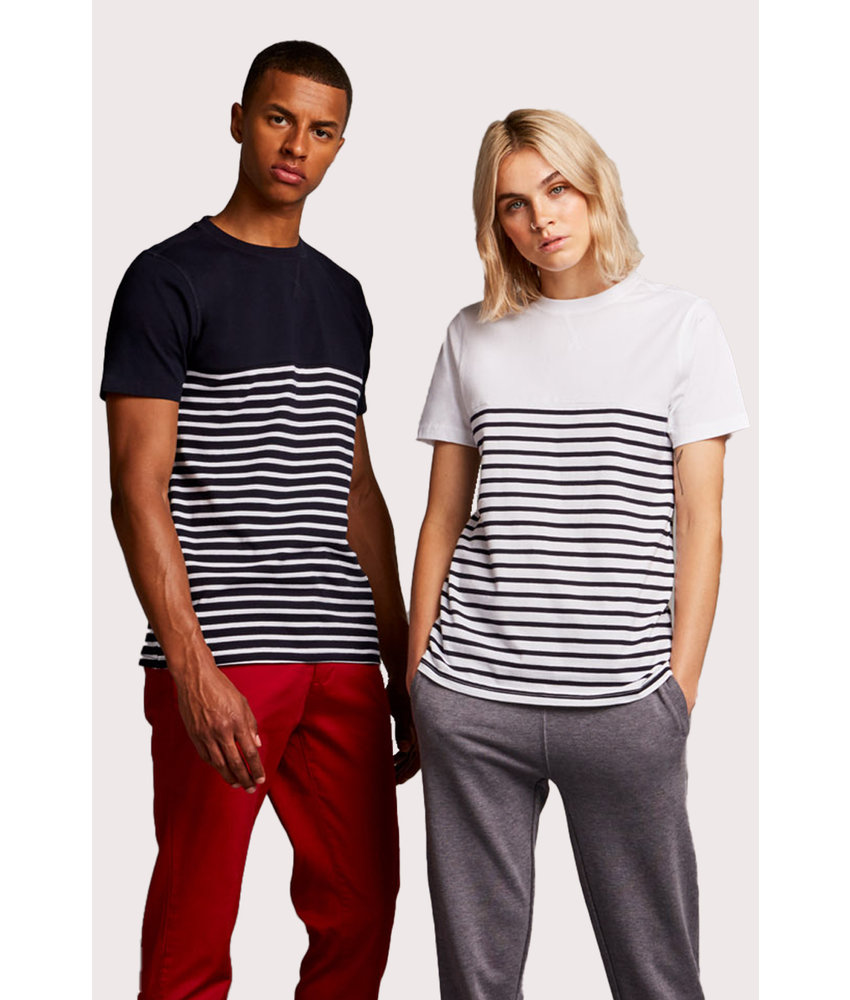 Front Row Collection | FR135 | SHORT SLEEVED BRETON T-SHIRT