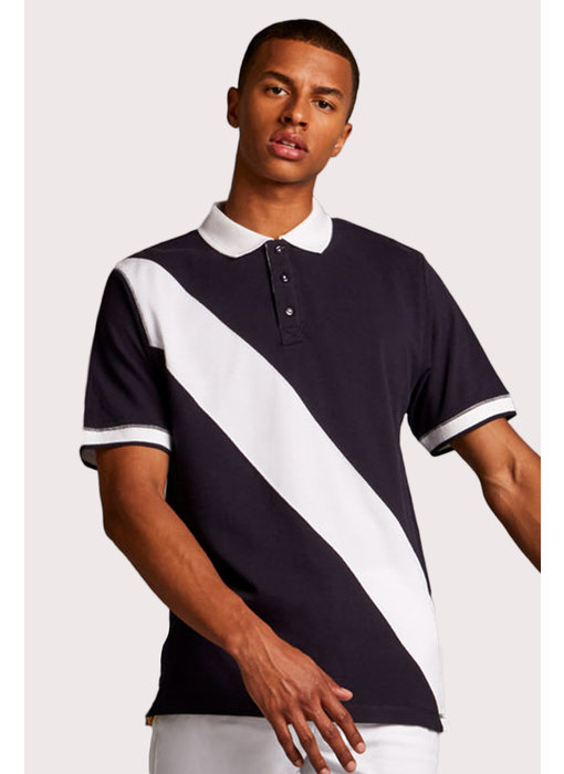 Front Row Collection | FR212 | Diagonal Stripe Men's Polo Shirt