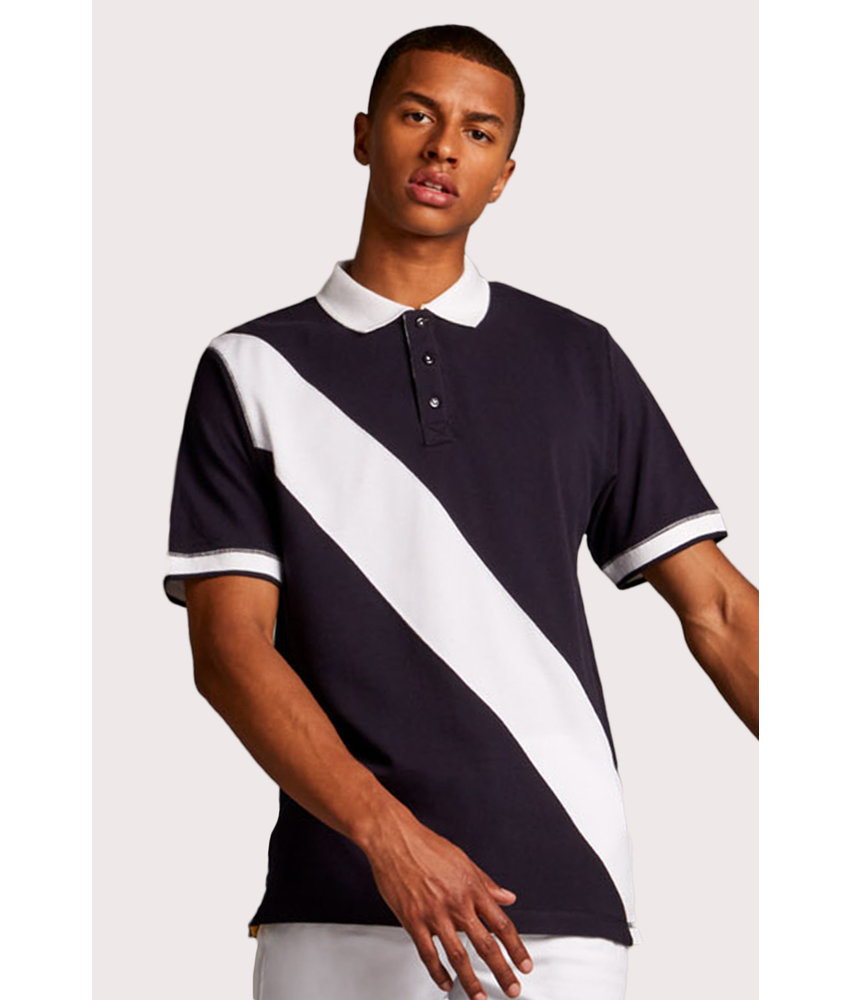 Front Row Collection | FR212 | Diagonal Stripe Men's Polo Shirt