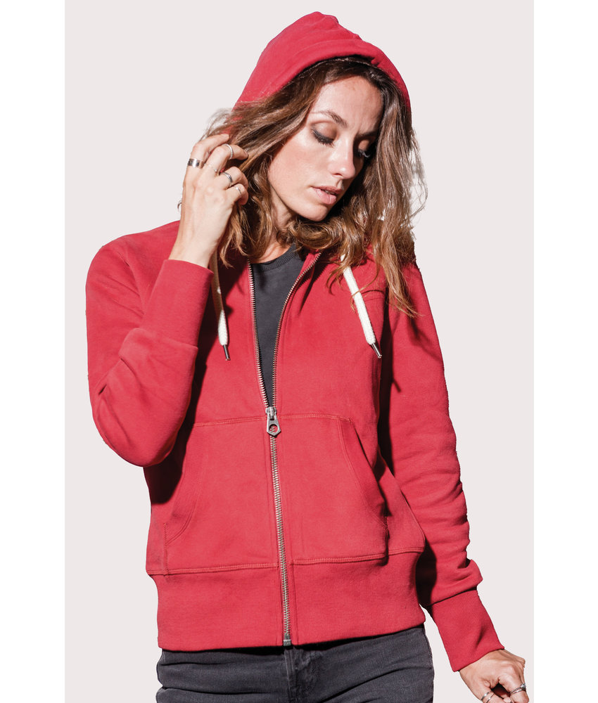 Kariban Vintage | KV2307 | Ladies' vintage zipped hooded sweatshirt