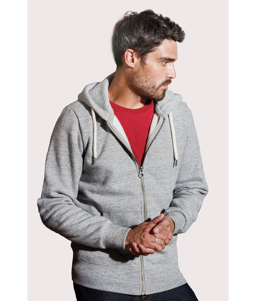 Kariban Vintage | KV2306 | Men's vintage zipped hooded sweatshirt
