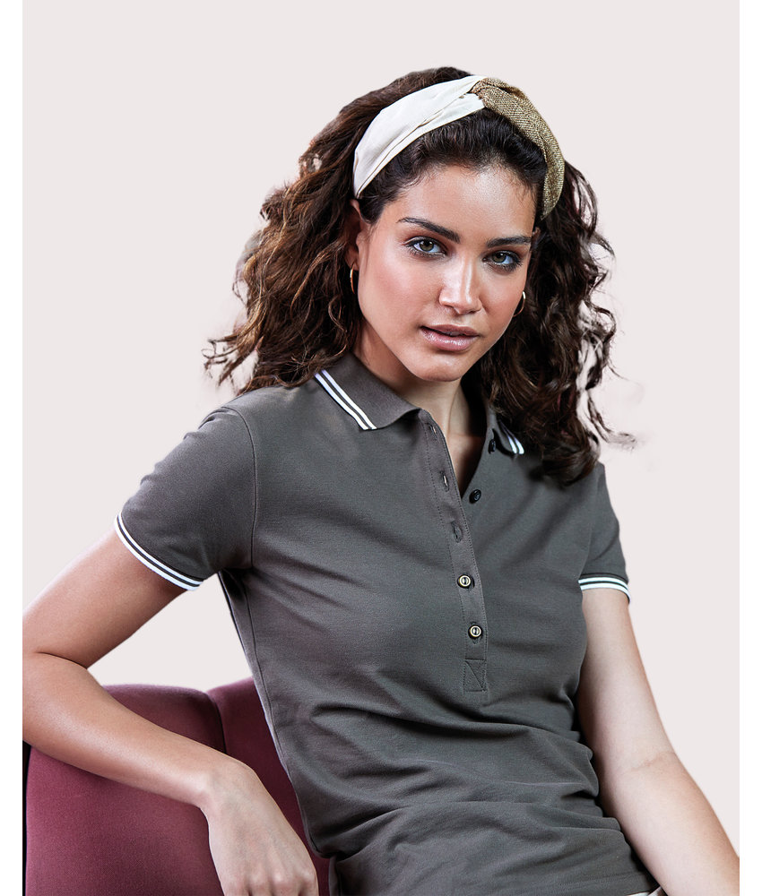 Tee Jays | 508.54 | 1408 | Ladies' Luxury Stripe Stretch Polo