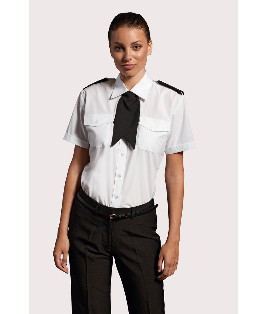 Premier   PR312   Ladies' Short-Sleeved Pilot Shirt
