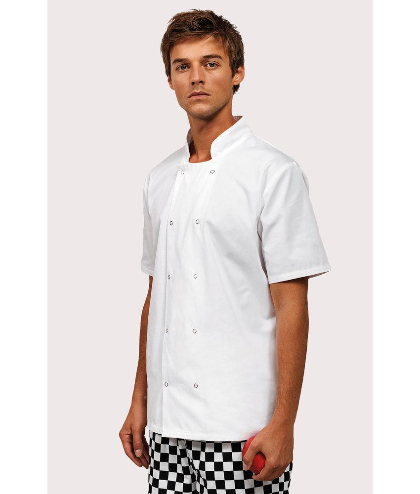 Premier | PR664 | Studded Front Short-SleevedChef's Jacket