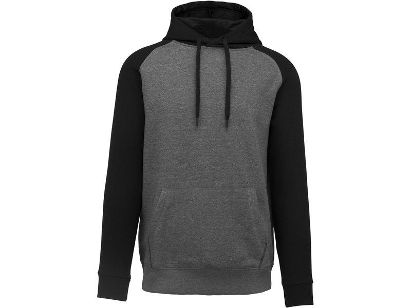 Proact Tweekleurige sweater met capuchon volwassene