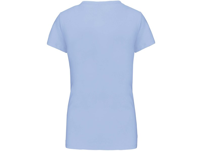 Kariban Dames T-shirt V-hals Korte Mouwen