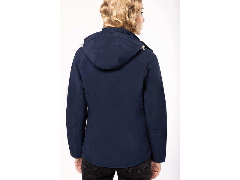 Kariban Dames Afneembare hooded softshell jas