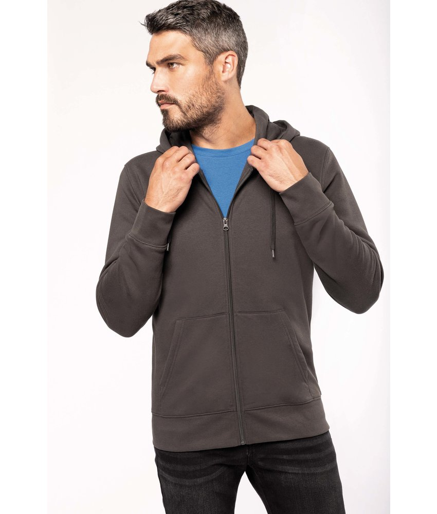 Kariban K4030 - Ecologische herensweater met capuchon en ritssluiting