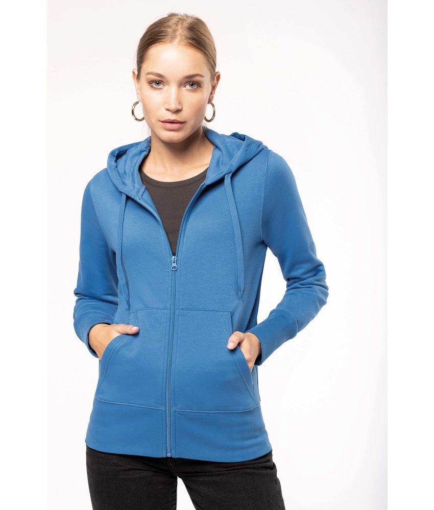 Kariban K4031 - Ecologische damessweater met capuchon en ritssluiting