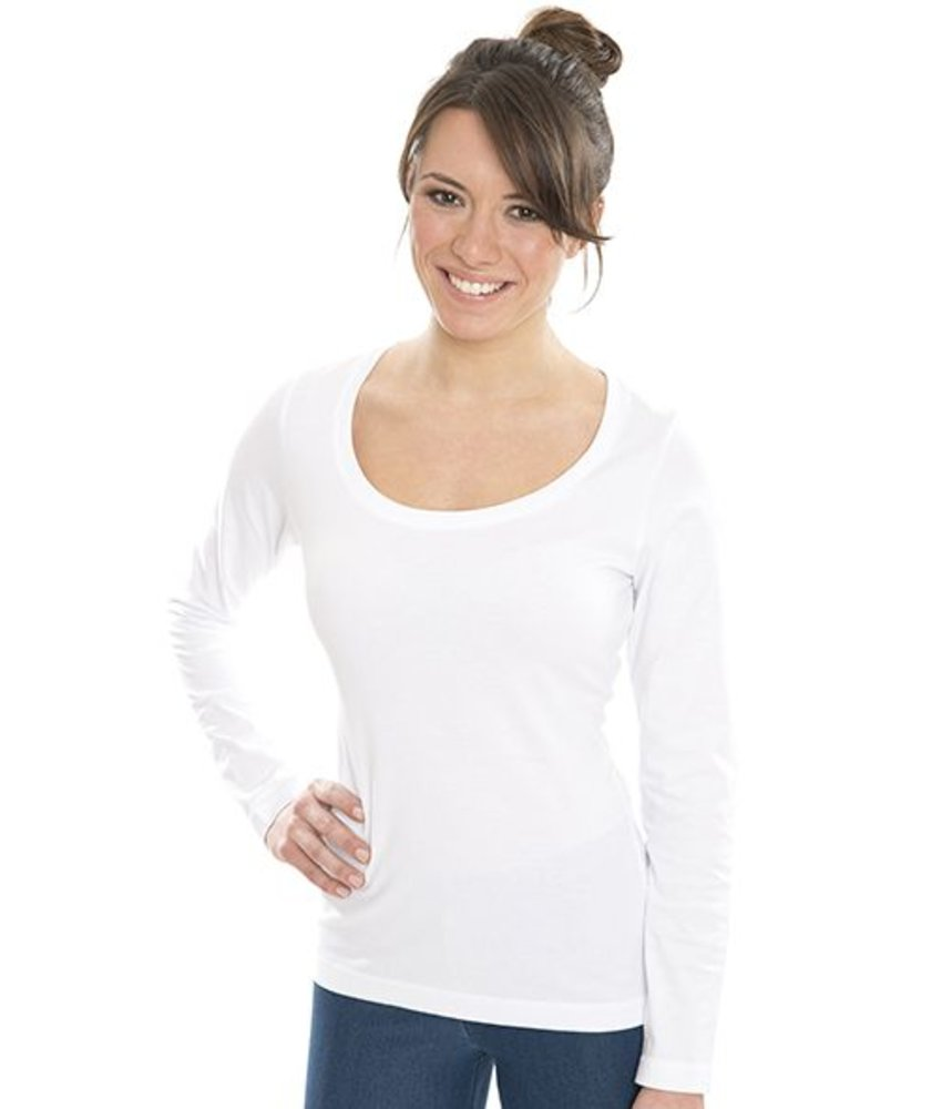 Nakedshirt Sheila - Women's Organic Deep Round LS T-Shirt