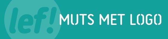 Muts met logo