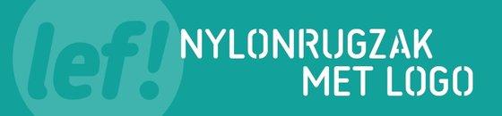 Nylonrugzak met logo