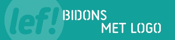 Bidon met logo