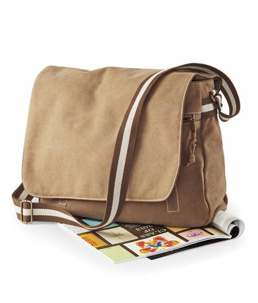 Quadra | QD610 | 601.30 | QD610 | Vintage Canvas Despatch Bag