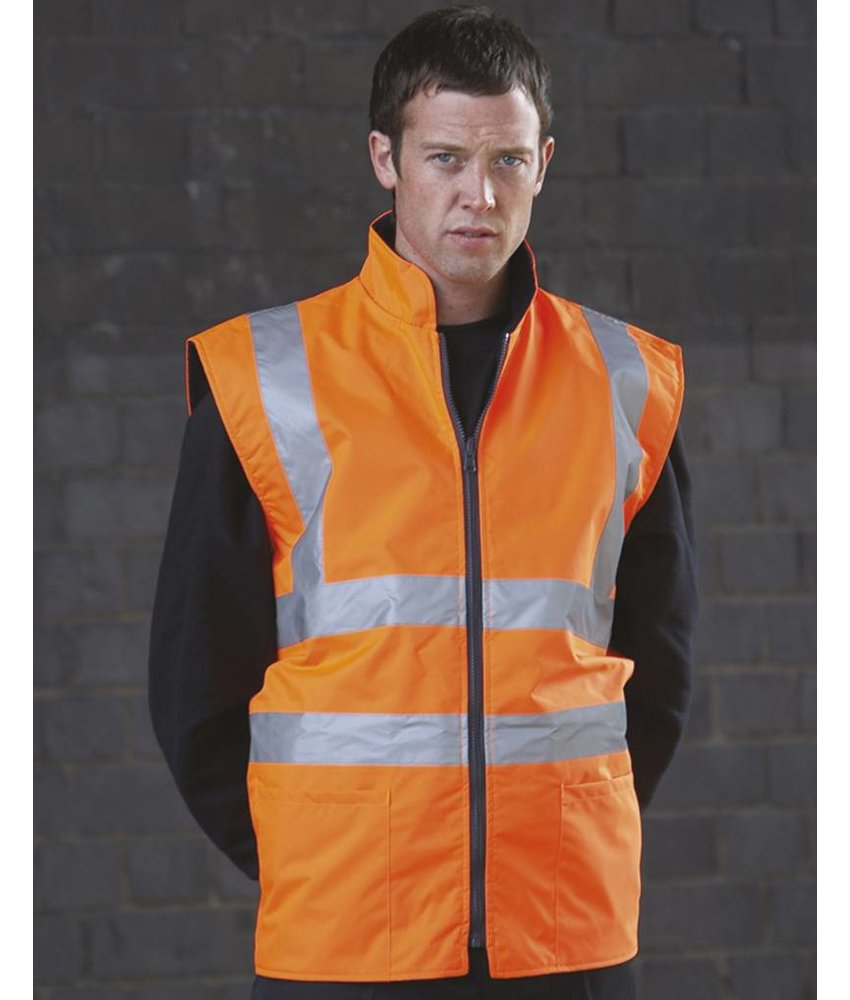 Yoko Hi-Vis Fleece Reversible Bodywarmer