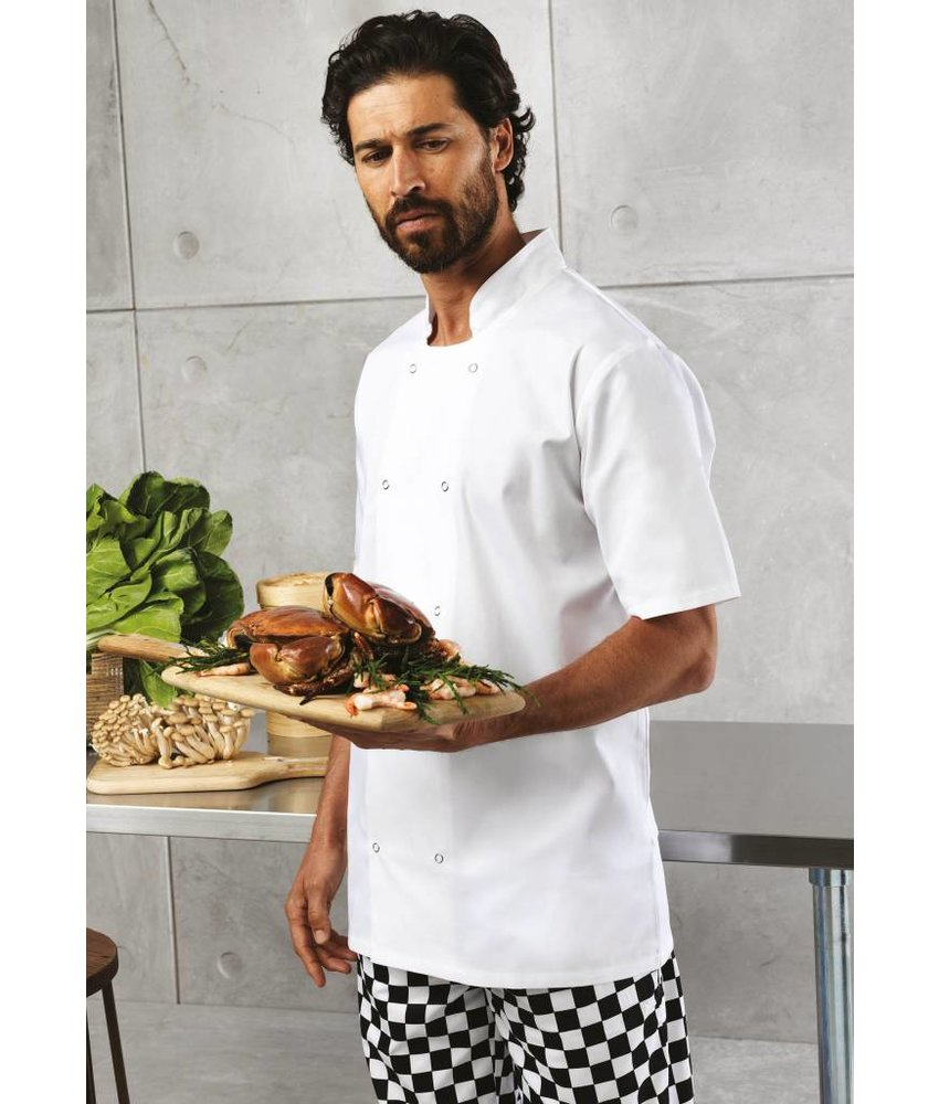 Premier Studded Front Short Sleeve Chef's Jacket