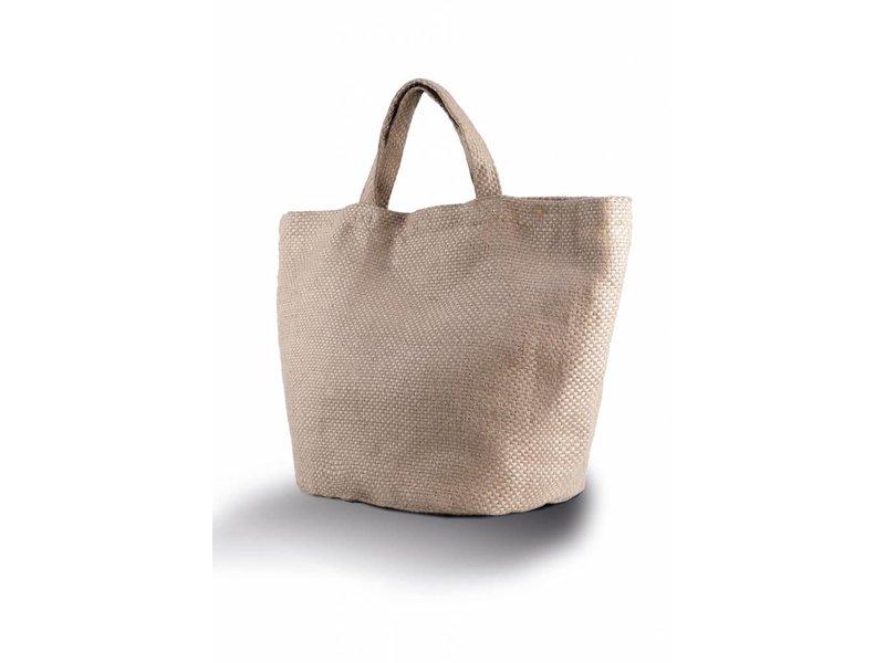 Kimood  100% natuurlijke modieuze Jute tas
