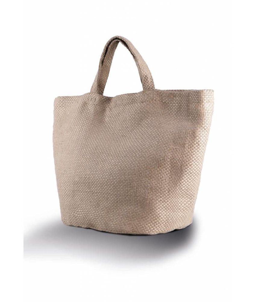 Kimood | KI0227 | 100% natural yarn dyed jute bag
