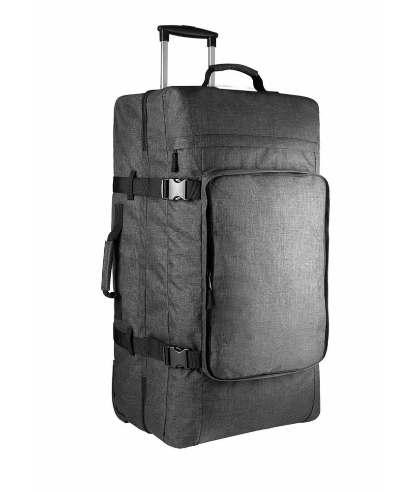 Kimood | KI0820 | Large dual-compartment trolley bag