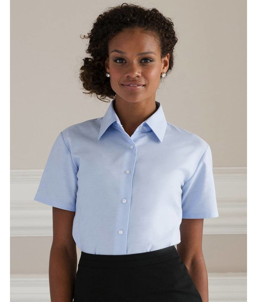 Russell Collection Ladies Oxford Blouse