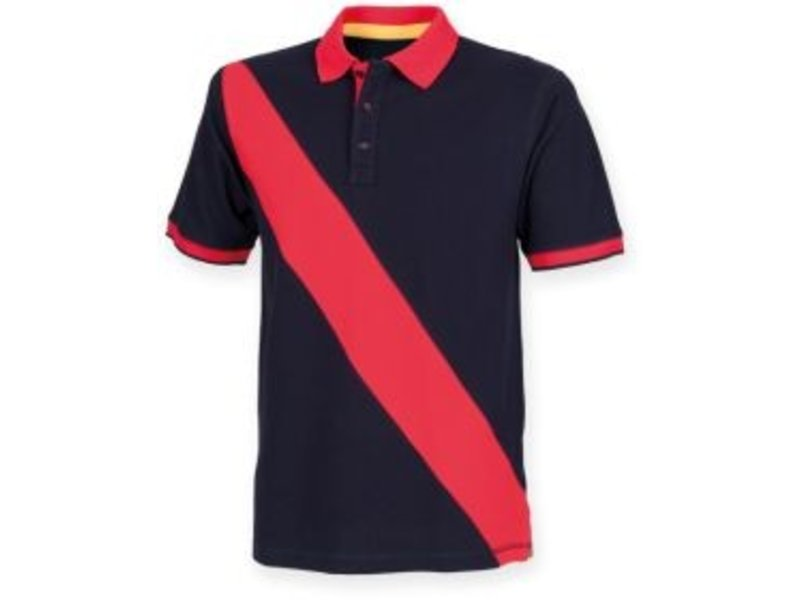 Front Row Collection Diagonal Stripe House Cotton Polo