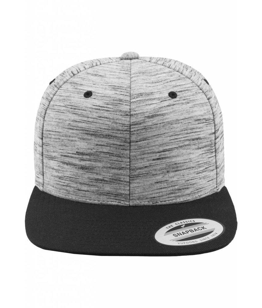 Urban Classics Stripes Melange Crown Snapback Black/ Grey