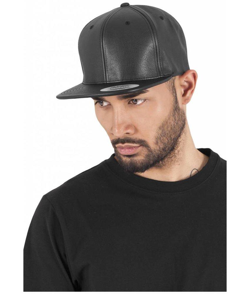 Urban Classics Full Leather Imitation Snapback Black/ Black
