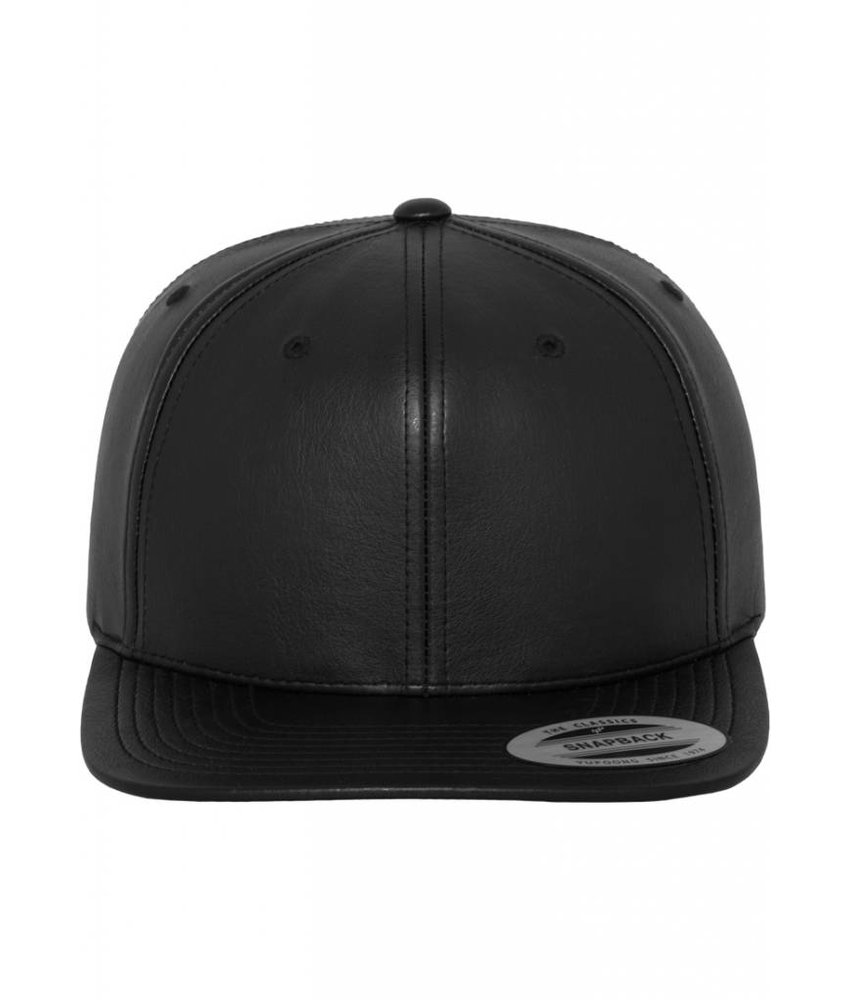 Urban Classics Full Leather Imitation Snapback Black/ Black