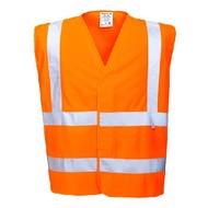 Portwest Vlamvertragende hogezichtbaarheids vest -FR75 - Orange