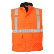 Portwest Bizflame Regen Hi-Vis Antistatische FR Bodywarmer -S776 - Orange
