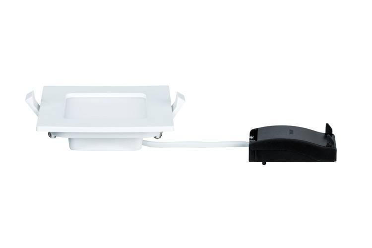 Paulmann Quality EBL Set Panel eckig LED 1x6W 4000K 230V 115x115mm Weiß/Kunststoff