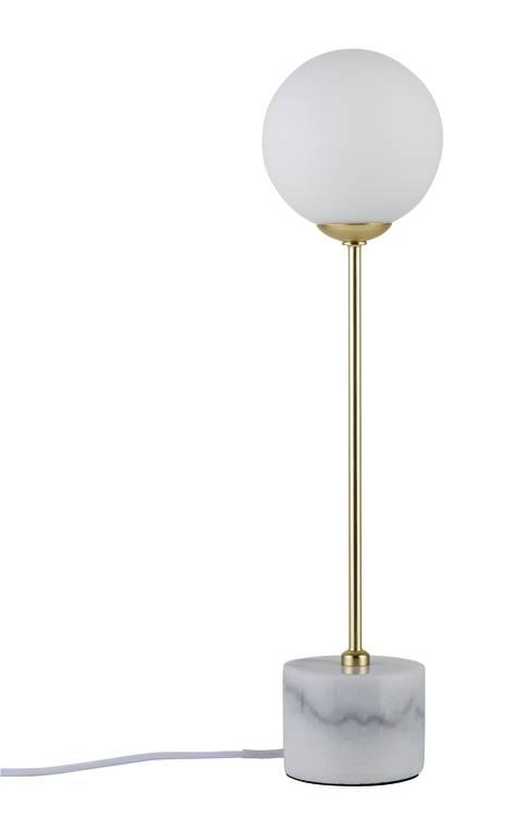 Paulmann Neordic Moa Tischleuchte max.1x10W G9 Weiß/Gold matt 230V Glas/Marmor/Metall