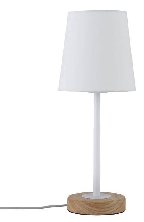 Paulmann Neordic Stellan Tischleuchte max.1x20W E27 Weiß/Holz 230V Stoff/Metall/Holz