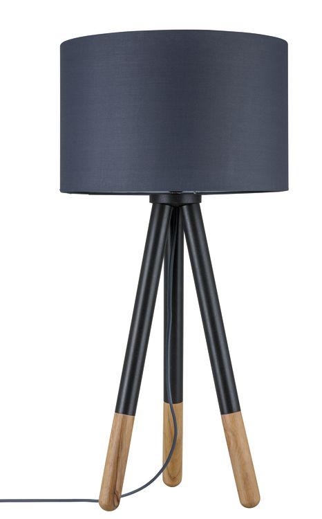 Paulmann Neordic Rurik Tischleuchte max.1x20W E27 Grau/Holz 230V Stoff/Metall/Holz