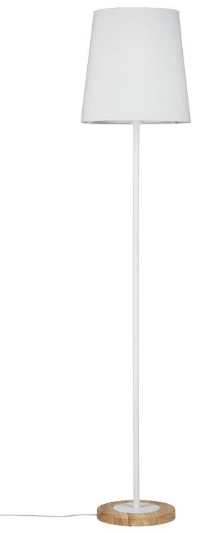 Paulmann Neordic Stellan Stehleuchte max.1x20W E27 Weiß/Holz 230V Stoff/Metall/Holz