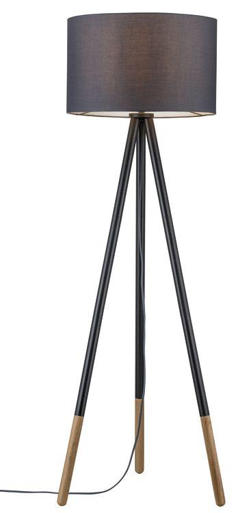 Paulmann Neordic Rurik Stehleuchte max.1x20W E27 Grau/Holz 230V Stoff/Metall/Holz