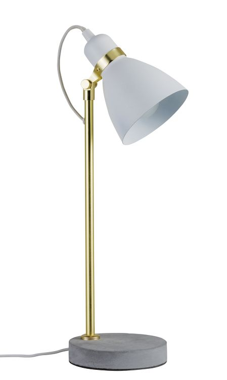 Paulmann Neordic Orm Tischleuchte max.1x20W E27 Weiß m/Gold matt/Grau 230V Metall/Beton