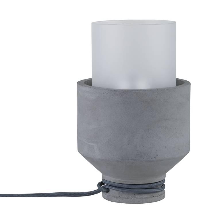Paulmann Neordic Helin Tischleuchte max.1x20W E27 Grau/Satin 230V Beton/Glas